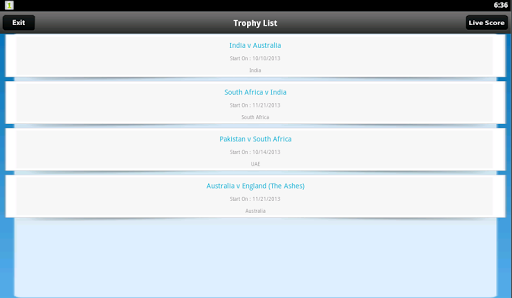 Live Cricket Scores & Schedule 1.6 screenshots 9
