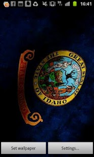 Idaho Flag Live Wallpaper - screenshot thumbnail