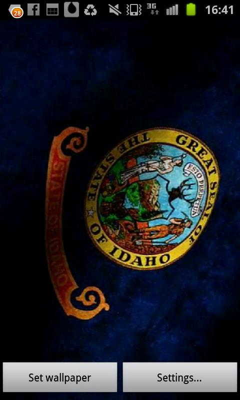 Idaho Flag Live Wallpaper- screenshot