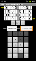 Screenshot of Binary/Decimal/Hex Converter