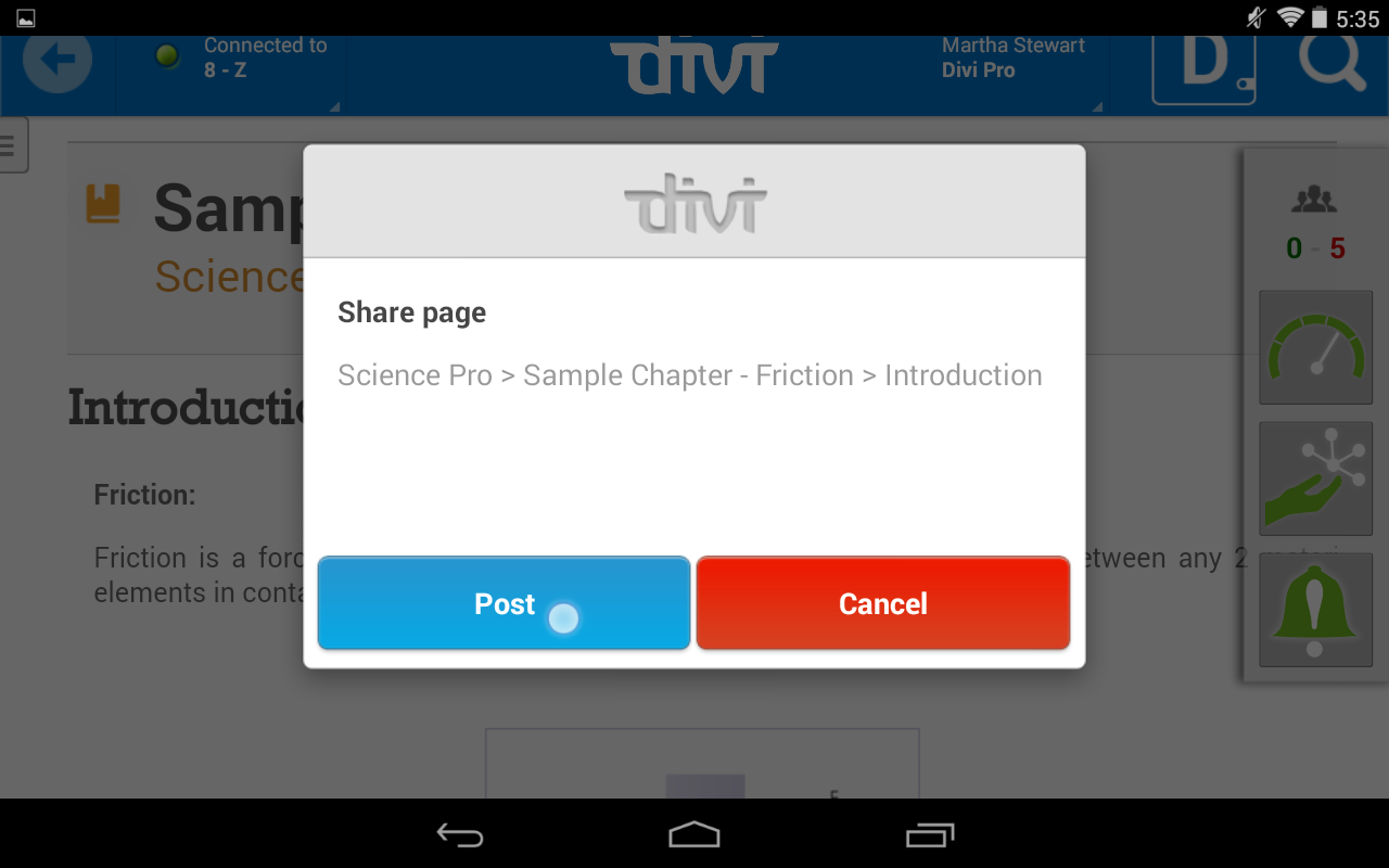 Divi ClassControl - Teacher- screenshot