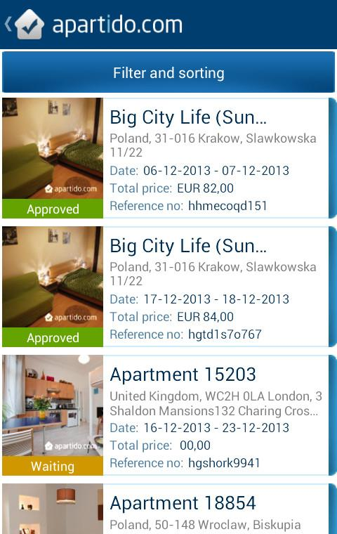 Apartment and Property Rentals- screenshot