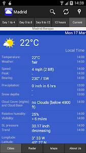 WeatherOnline Weather screenshot 2