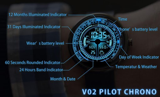 V02 WatchFace for Moto 360- screenshot thumbnail