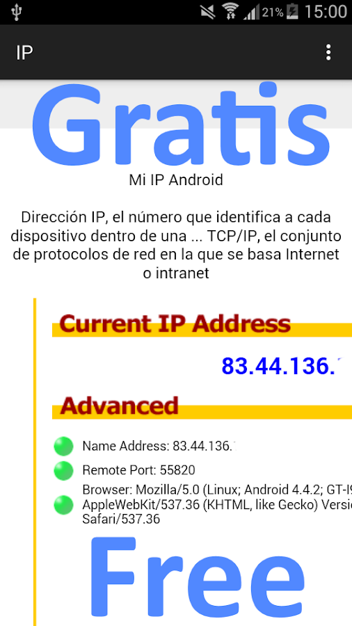 Cual es Mi Ip- screenshot