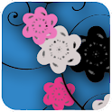 Floral Print Blue v2 Theme icon