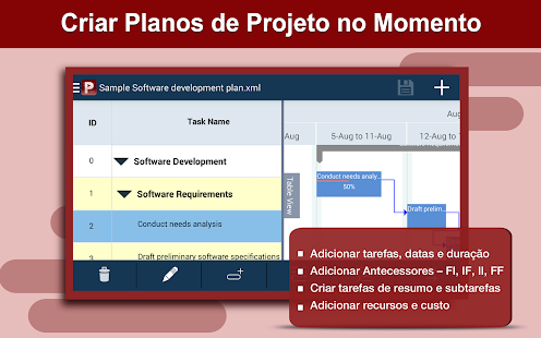 Project Planning Pro: miniatura da captura de tela