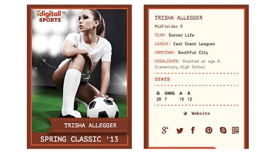 iDigitallSports Trading Card- screenshot thumbnail