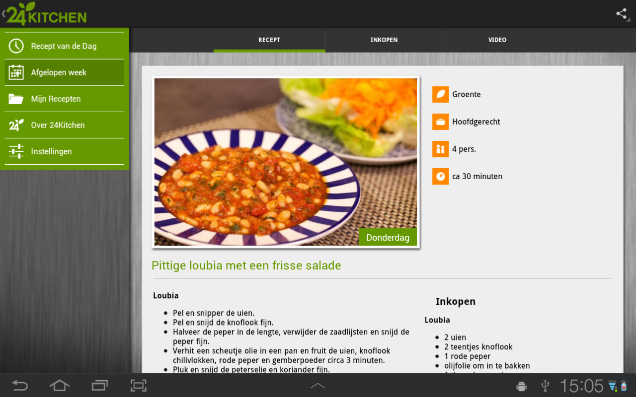 Recept van de dag, 24Kitchen- screenshot