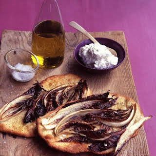Radicchio Flat Bread with Whipped Ricotta.