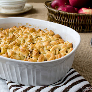 Apple Cobbler with Crescent Roll Topping.