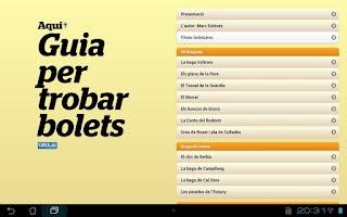 Screenshot of Guia per trobar bolets (D)
