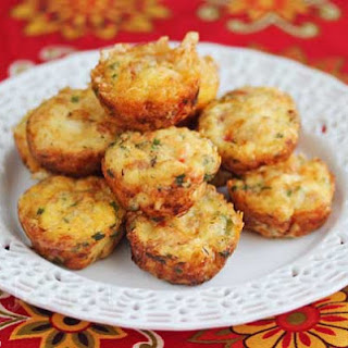 Mini Frittatas with Ham, Vegetables and Cheese.