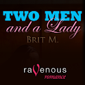 TWO MEN & A LADY-A GAY MENAGE logo