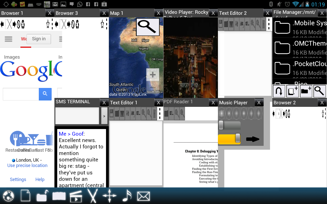 Split View Multi Screen Tablet- screenshot