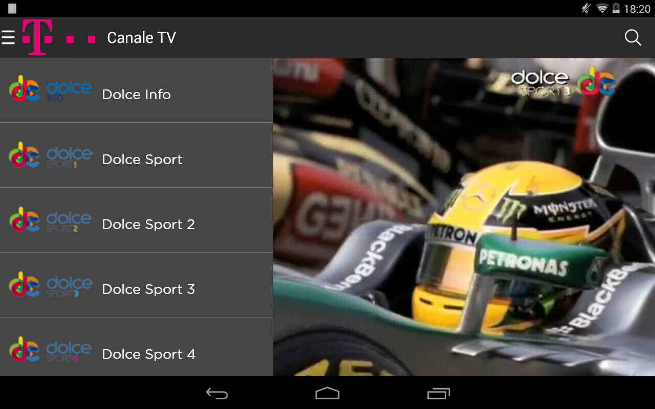 Telekom TV- screenshot