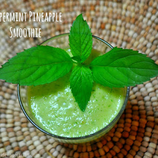 Peppermint Pineapple Smoothie.