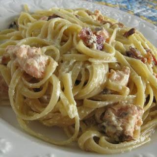 Salmon Spaghetti Carbonara