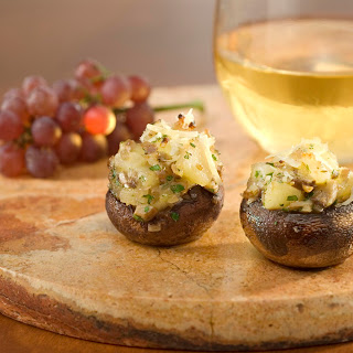 Pear & Parmesan Stuffed Mushrooms