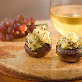 Pear & Parmesan Stuffed Mushrooms.