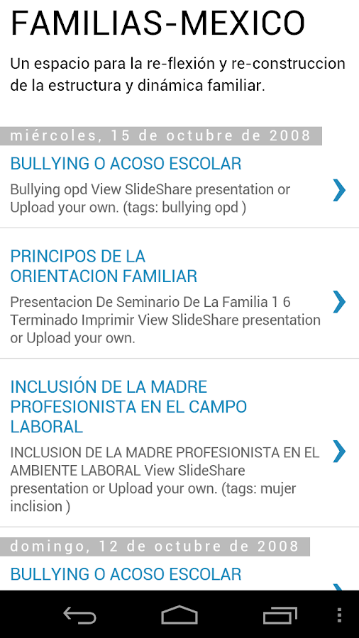 FAMILIAS-MÉXICO- screenshot