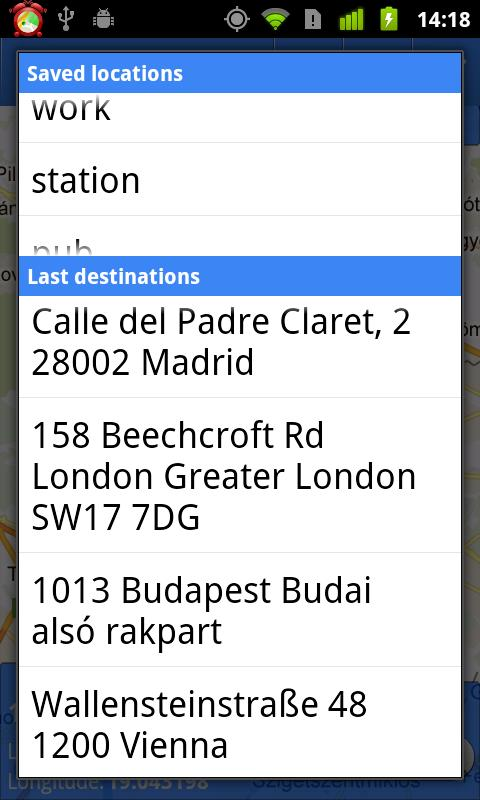 GPS WakeUp!- screenshot