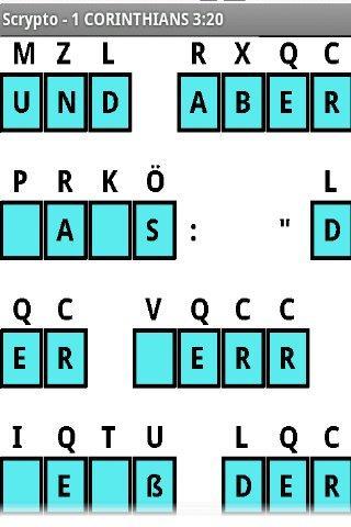 Scrypto Deutsche Bible Rätsel