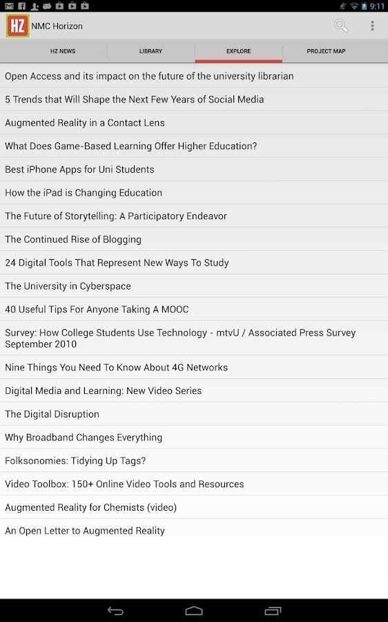 NMC Horizon EdTech Weekly - screenshot