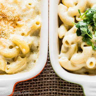 Healthy Green Curry Mac and Cheese.