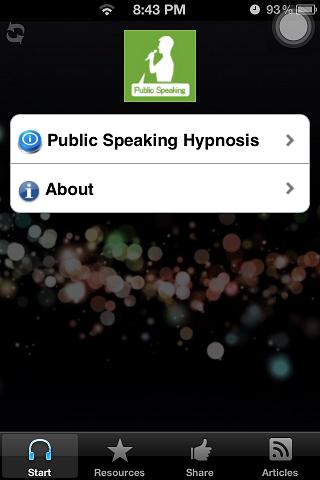 Public Speaking Hypnosis App