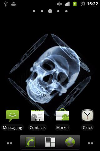 Skull 3D Live Wallpaper - screenshot