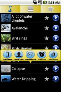 3D Natural sounds Ringtones - screenshot thumbnail