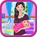Baby birth girls games icon