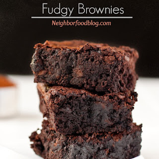 Easy One Pot Fudgy Brownies.