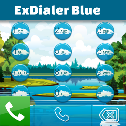 ExDialerブルー 個人化 App LOGO-APP試玩