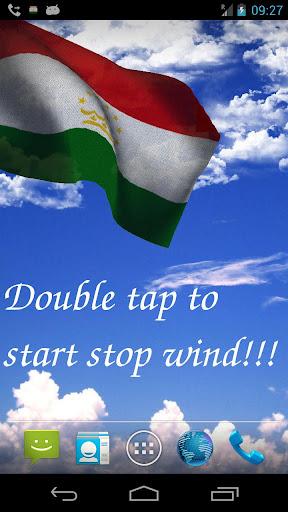 3D Tajikistan Flag LWP +