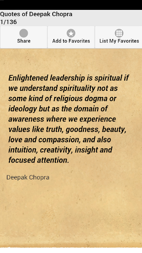 Quotes of Deepak Chopra