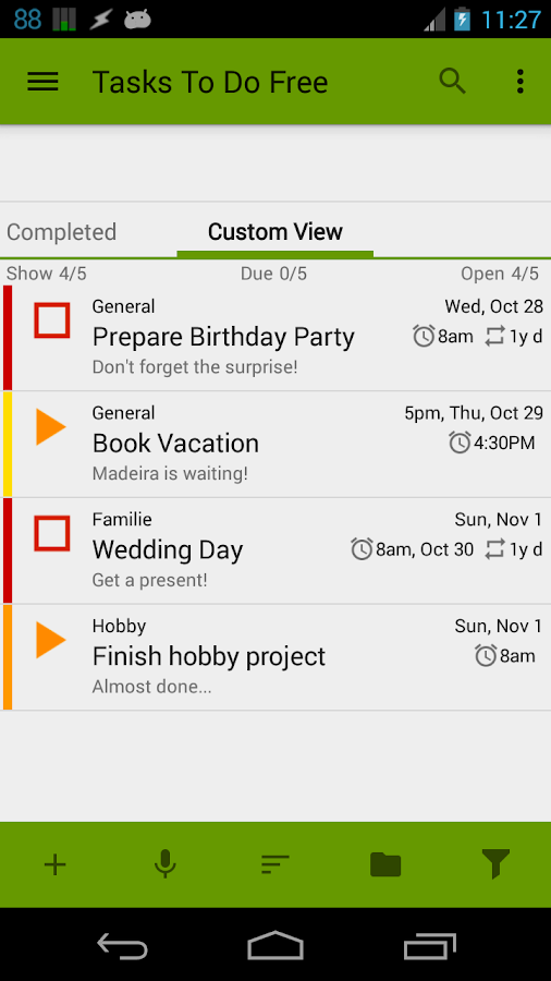 Tasks To Do Free, To-Do List - screenshot