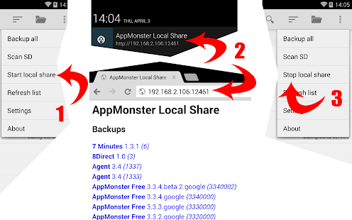 AppMonster Free Backup Restore- screenshot thumbnail