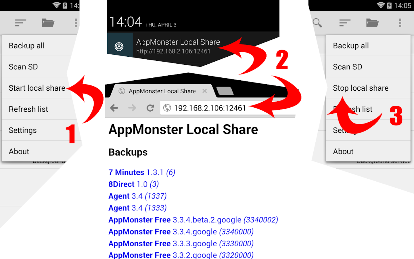 AppMonster Free Backup Restore- screenshot