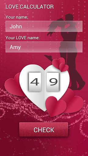 你的愛情測試計算器