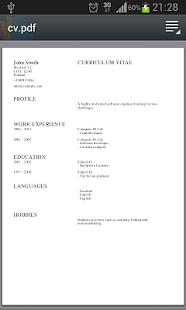 Curriculum vitae apps on google play screenshot image yelopaper Gallery