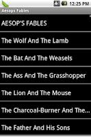 Screenshot of Aesop's Fables