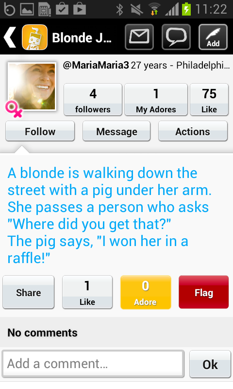 Blonde Jokes - screenshot