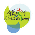 Fitness walking icon