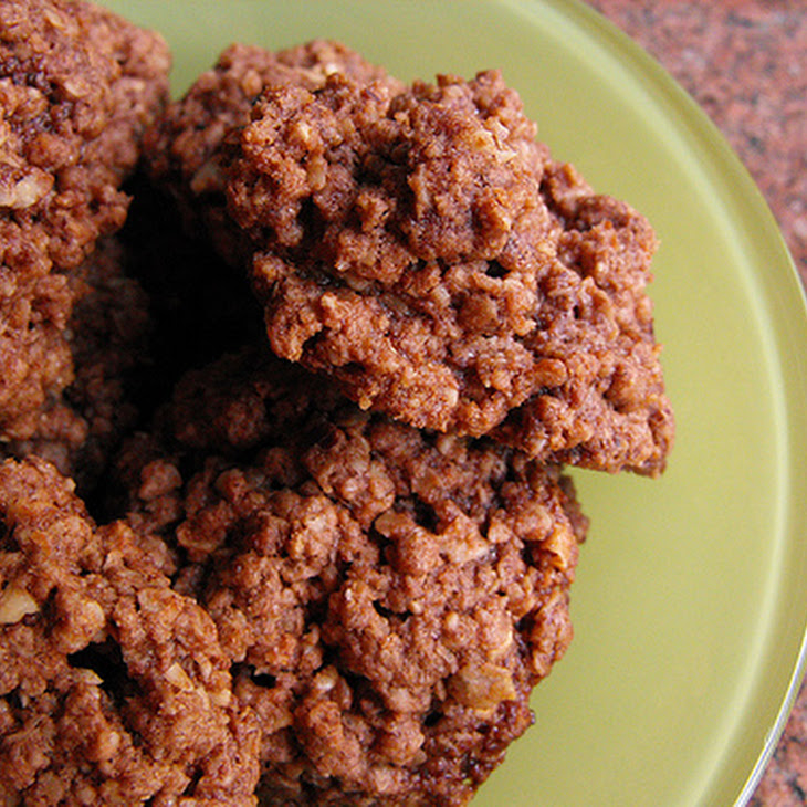 Chocolate Cream, Hazelnut, and Oat Biscuits