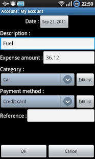 Expenses recorder ad-free - screenshot thumbnail