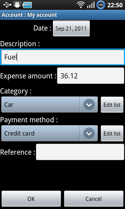 Expenses recorder ad-free - screenshot