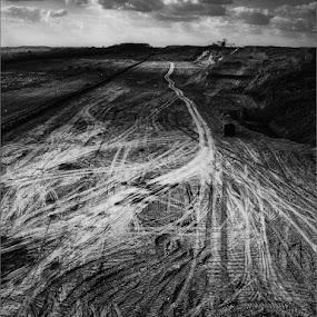 My Way by Goran Popović - Black & White Landscapes ( mine mining way bw cb rudnik coal )