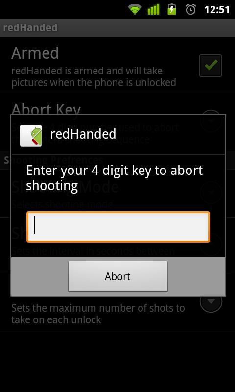 redHanded - screenshot